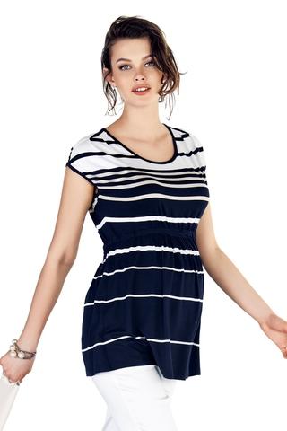 Блузка для беременных 10224 синий