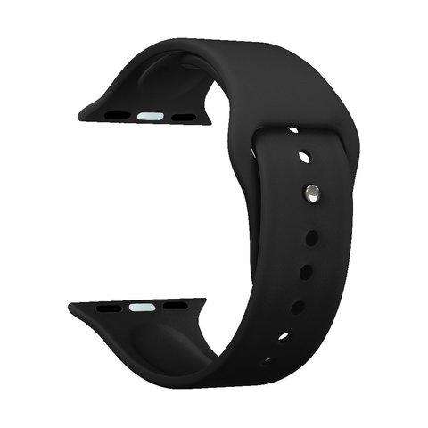 Ремешок силиконовый Deppa Band Silicone D-47129 для Apple Watch 44мм/ 42мм Черный