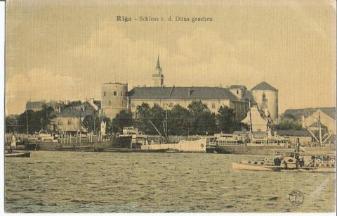 Рига  - Riga - Schloss v.d. Duna gesehen