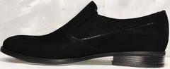 Замшевые туфли лоферы мужские Ikoc 3410-7 Black Suede.