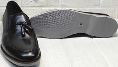 Стильные туфли мужские черные Luciano Bellini 91178-E-212 Black.