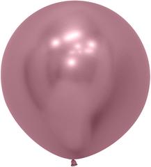 S 24''/61см, Зеркальные шары, Хром, Рефлекс Розовый (909).