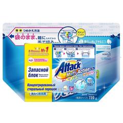 Порошок стиральный концен ATTACKMulti-Action актив кисл пят-в запас бл720гр