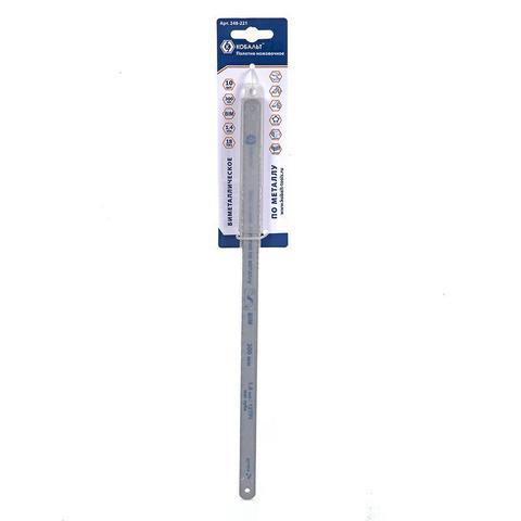 Полотна ножовочные по металлу КОБАЛЬТ 300 мм, эластичные, шаг 1.4 мм/18TPI, BIM (10 шт) бл (248-221)