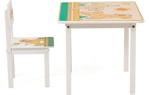 Комплект детской мебели Polini Kids Disney baby 105 S,Король Лев, белый