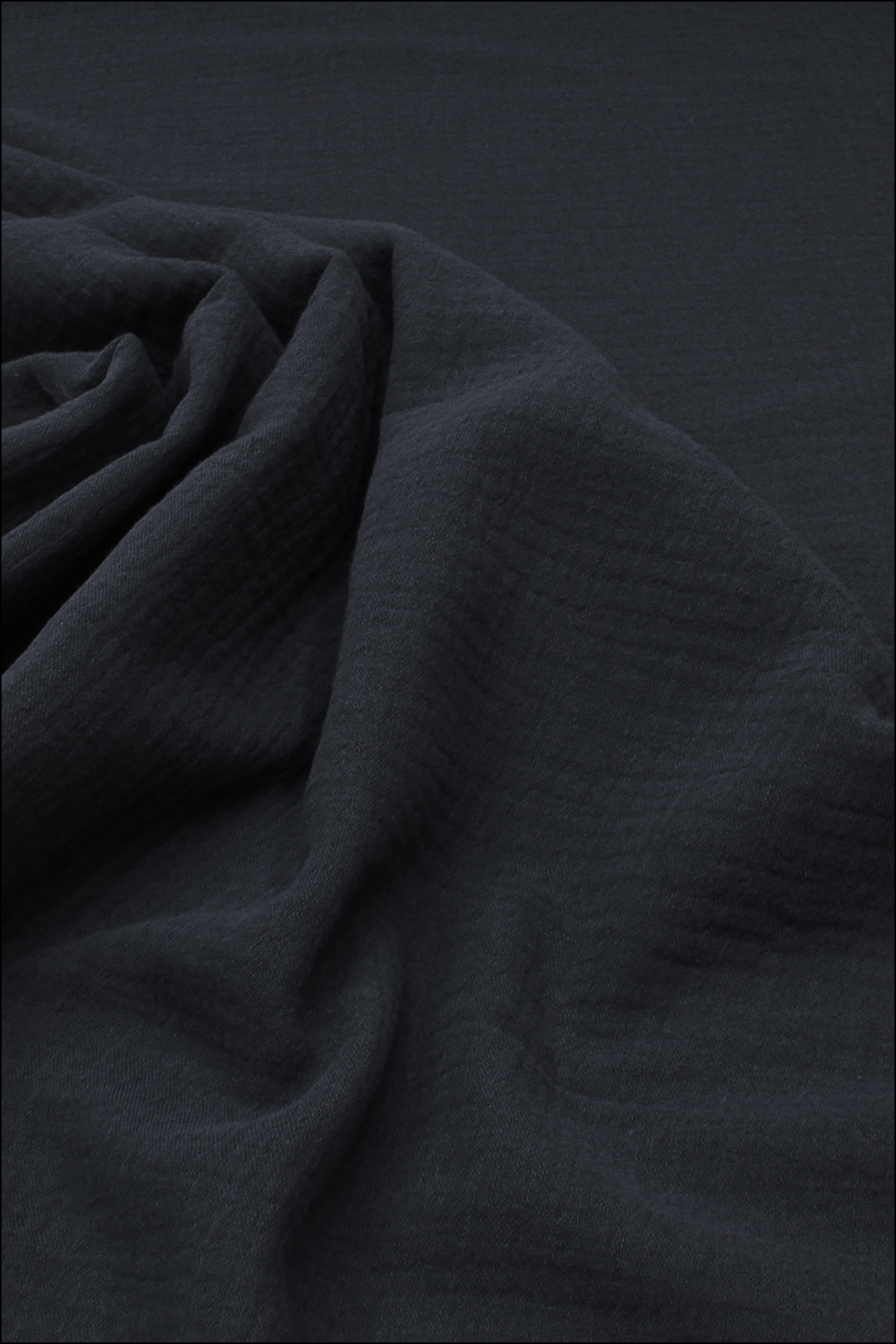 Ткань муслиновая,темно-синий