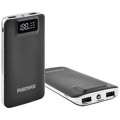 Power Bank Remax 20000mAh 2USB(1A+2A), цифровой дисплей с подсветкой, фонарик 1LED (134)