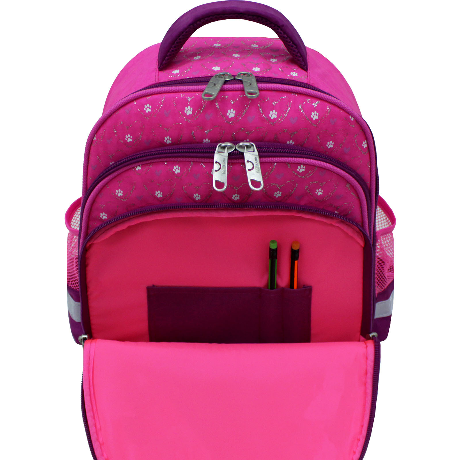Рюкзак школьный Bagland Mouse 143 малиновый 167к (0051370) фото 5