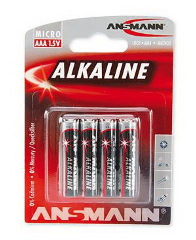 Батарейки Ansmann Alkaline Red LR03, AAA (4/40) BL