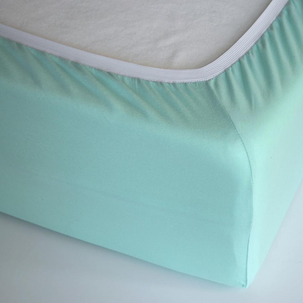 TUTTI FRUTTI мята - Двуспальная простыня на резинке