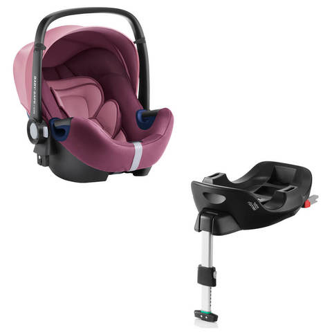 Автокресло Britax Roemer Baby-Safe2 i-Size Wine Rose + Base Flex Isofix