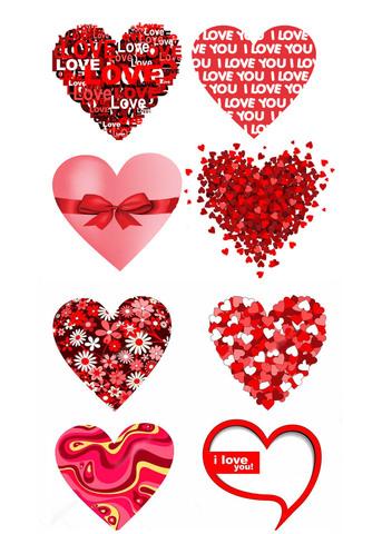 Печать на сахарной бумаге, День Влюбленных 3