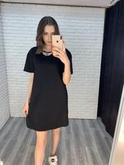 черное платье свободного кроя купить