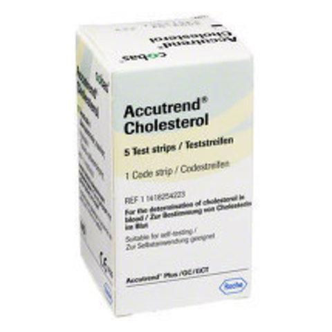 Тест-полоски Аккутренд (Accutrend) холестерин №5