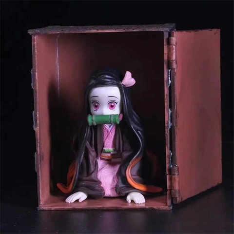 Фигурка Аниме Клинок рассекающий демонов Незуко Камадо с антуражем