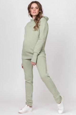 Утепленный спортивный костюм для беременных и кормящих 11885 шалфей