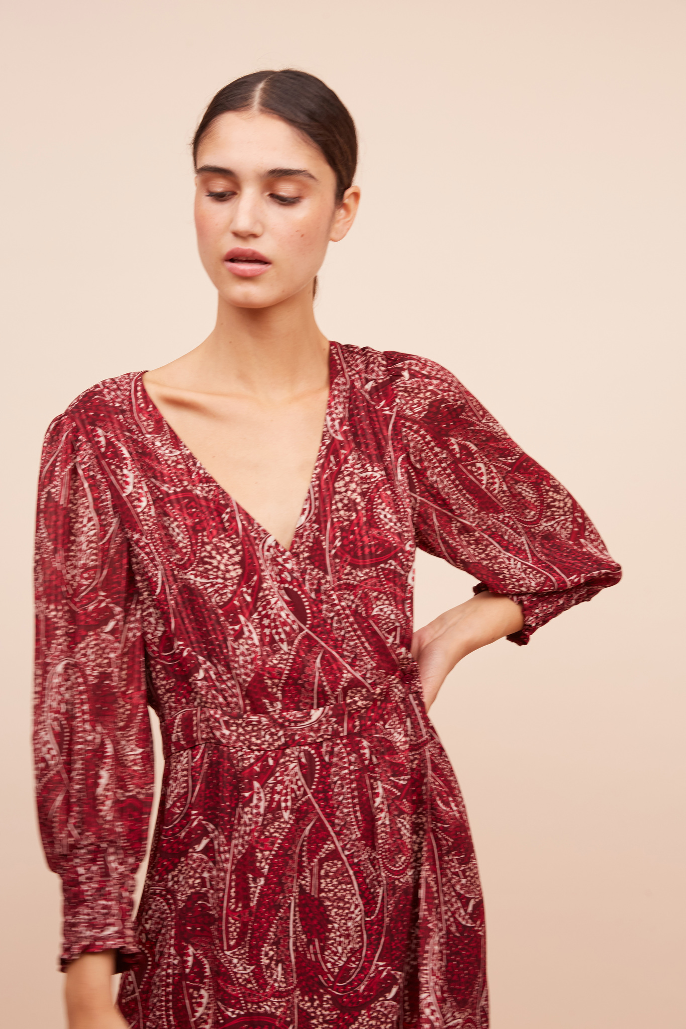 JIA - Длинное платье с принтом пейсли