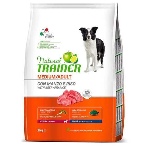 Сухой корм для собак TRAINER говядина, с рисом (для средних пород)