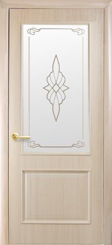 Дверь Вилла ДО (ясень, остекленная ПВХ), фабрика Новый Стиль