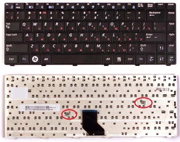 Клавиатура для ноутбука Samsung R513, R515, R518, R520, R522
