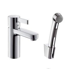Смеситель для раковины с гигиеническим душем Hansgrohe Metris S 31160000 фото