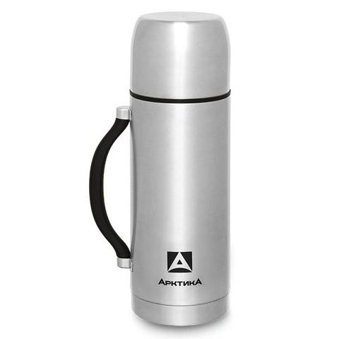 Термос Арктика (1,2 литра) с узким горлом, стальной, ручка