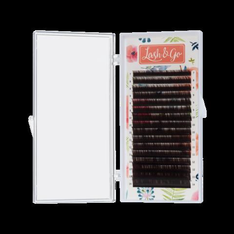 Купить Коричневые ресницы Lash Go 16 линий (Эспрессо), одна длина - официальный сайт Lash-Go.ru