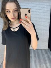 черное платье свободного кроя интернет магазин