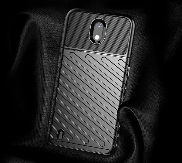 Чехол на телефон Nokia 1.3, противоударный, черный цвет, серия Onyx от Caseport