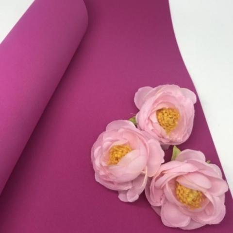 Шелковый фоамиран 25*25 см. Темно-розовый 07