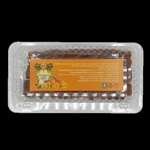 Чурчхела абрикосовая с грецким орехом, 330 гр