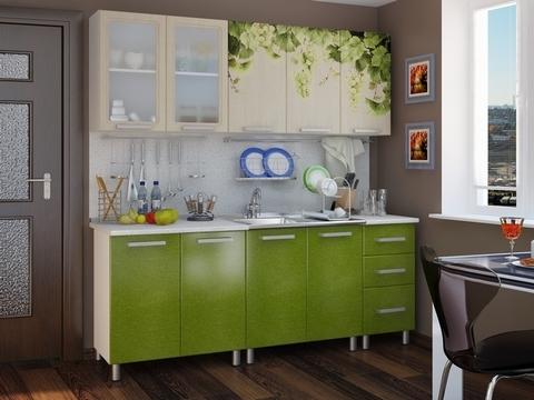 Кухня с фотопечатью Люкс