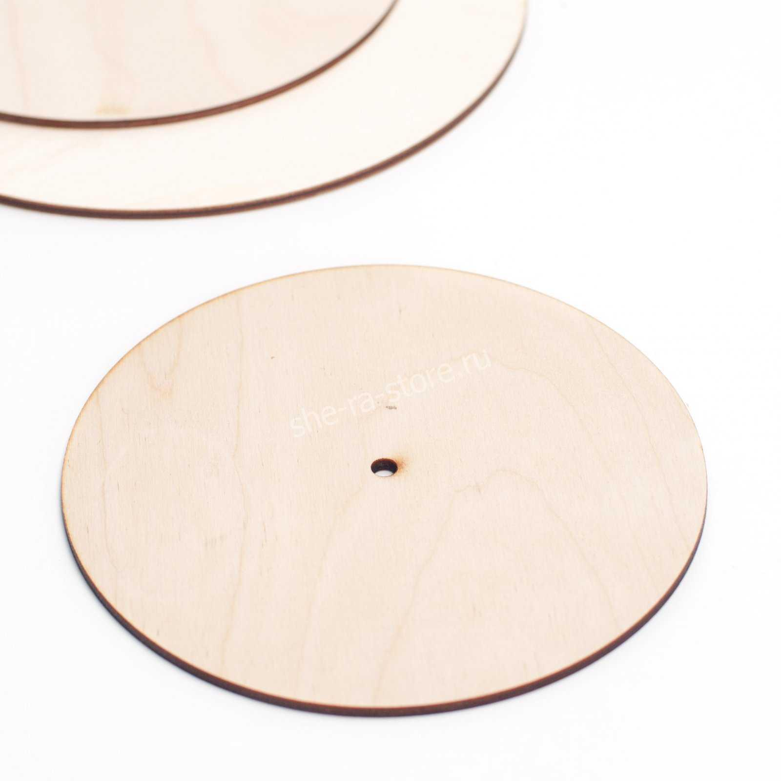 Подложка усиленная с отверстием для оси, диаметр 14см.