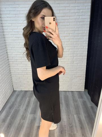черное платье свободного кроя недорого