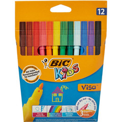 Фломастеры Bic Visa 12 цветов