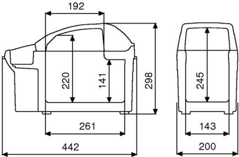 Автохолодильник Dometic BordBar TB-08, 8л, охл./нагр., пит.(12V)