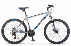 Горный велосипед Stels Navigator-500 MD серебристо-синий