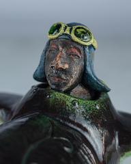 Скульптура из шамотной глины «Пилот», 17х36 см, Falco Ceramic