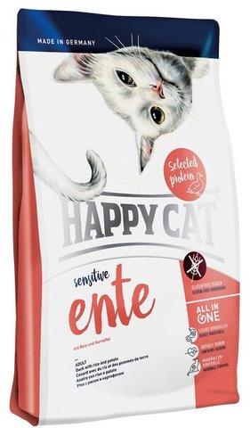 купить Happy Cat Sensitive Grainfree Ente сухой корм для взрослых кошек с чувствительным пищеварением с уткой, рисом, картофелем и клюквой