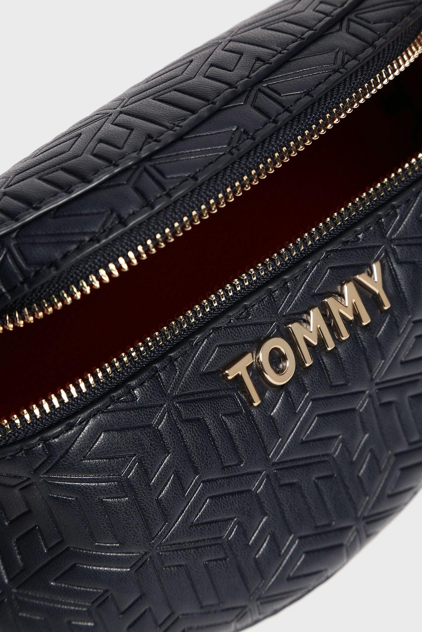 Женская темно-синяя поясная сумка ICONIC Tommy Hilfiger