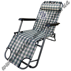 Шезлонг-кресло складной с подушкой и подстаканником