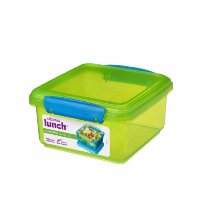 """Контейнер пищевой Sistema """"Lunch"""" 1,2 л, цвет Зеленый"""