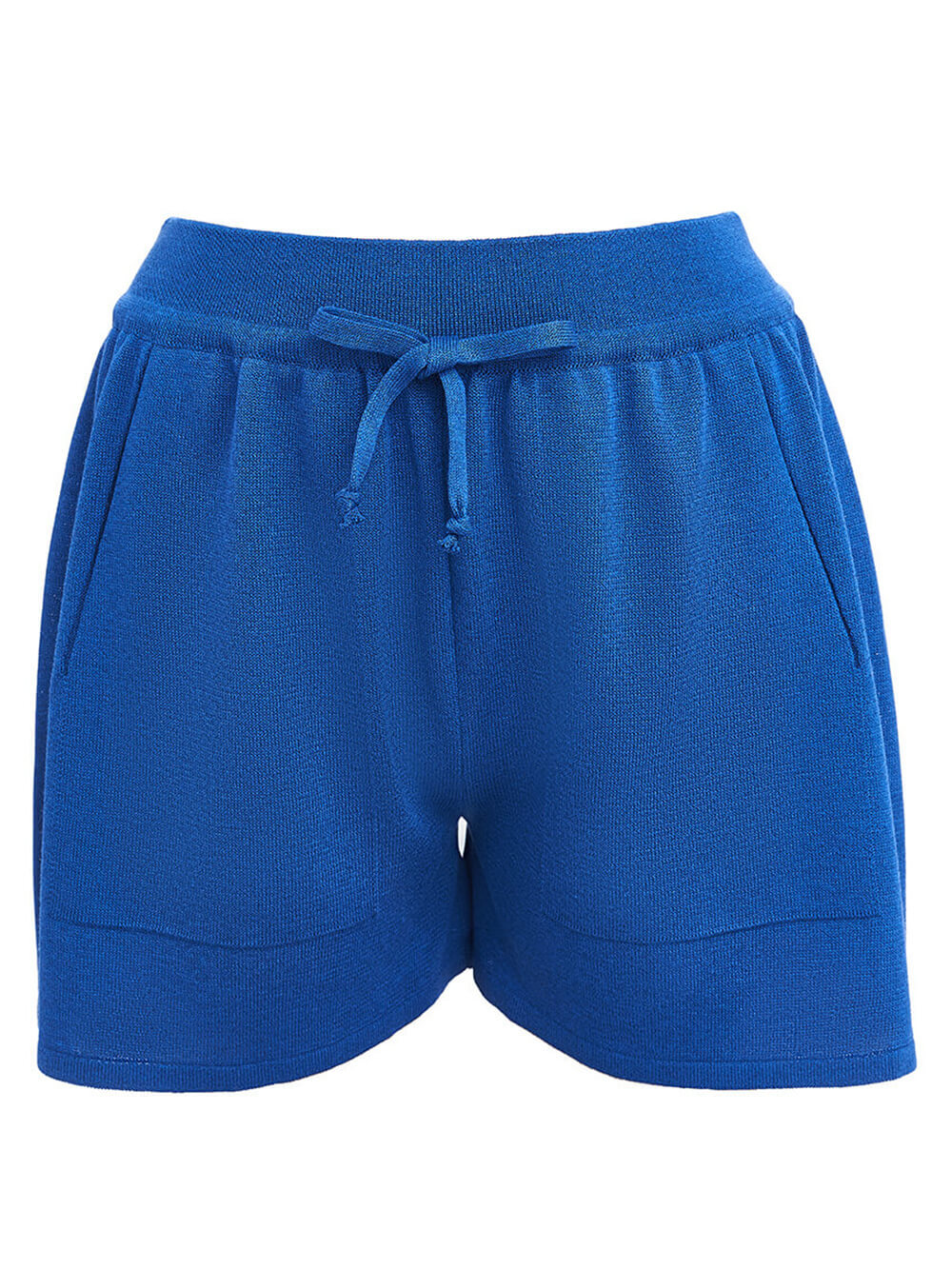 Женские шорты синего цвета из вискозы - фото 1