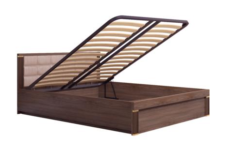 Кровать двойная 140*200 с подъемным механизмом Париж 8 Ижмебель дезира темная/орех натуральный глянец