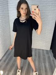 черное платье свободного кроя оптом