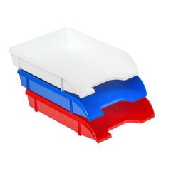 Лоток для бумаг горизонтальный Attache Триколор (3 штуки в упаковке)