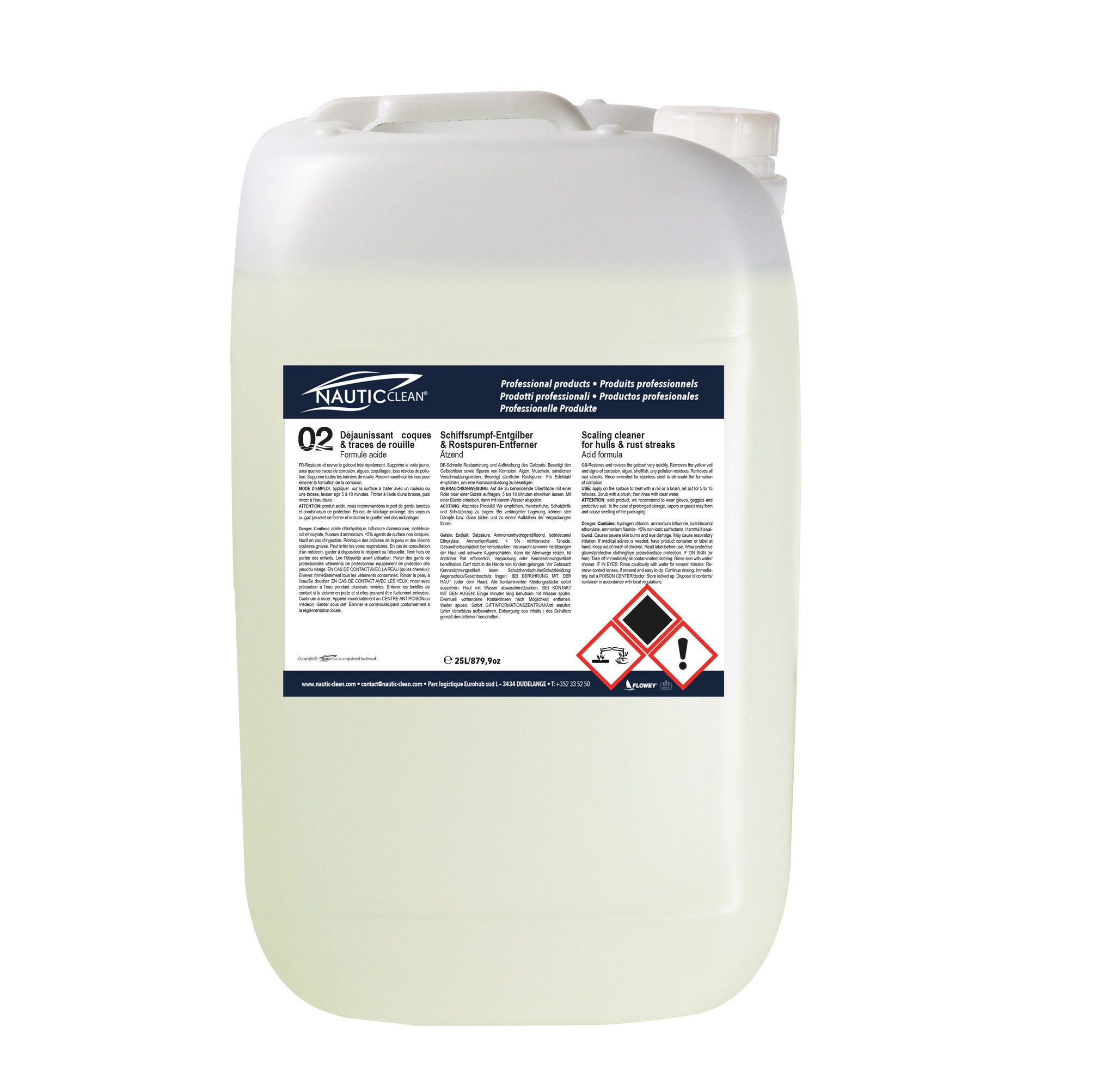 Properties of  Scaling cleaner for hulls №02