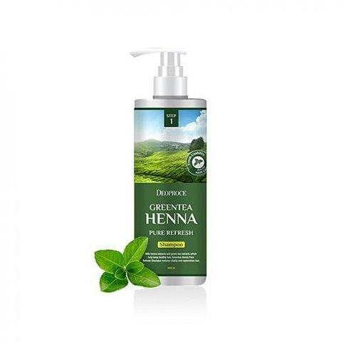 Шампунь для волос с зеленым чаем и хной DEOPROCE SHAMPOO GREENTEA HENNA PURE REFRESH