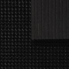 Коврик ТРАВКА черный, на противоскользящей основе, 45*60 см