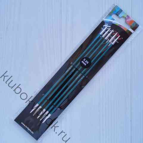 Спицы чулочные Knit Pro Zing алюминий 15 см, № 3,25